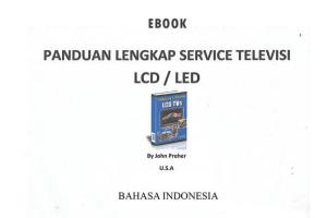 Ebook Panduan Service Televisi LCD / LED