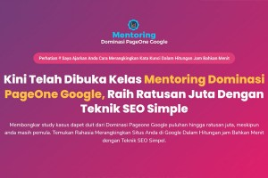 Mentoring Dominasi PageOne Google (MDPG) Batch 2