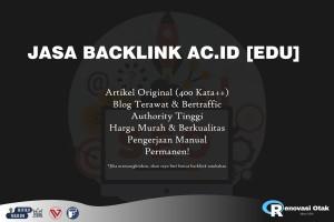 Jasa Backlink ac.id [EDU] Dofollow, Berkualitas!