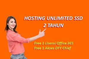 Hosting Unlimited SSD Selama 2 Tahun